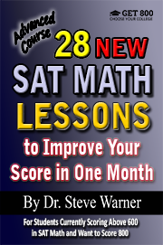 28 SAT Math Lessons - Advanced