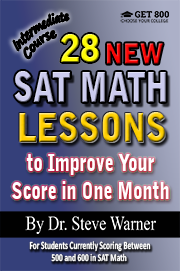 28 SAT Math Lessons - Intermediate