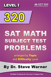 320 SAT Math Subject Test Problems - Level 1